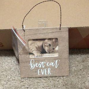 Best Cat Ever 4x4 Wooden Frame